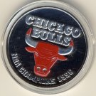 1996 - The Highland Mint - Chicago Bulls - Chicago Bulls - NBA Champions 1996 - Silver/Red Bull Coin