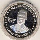 1990-91 - David Robinson - San Antonio Spurs - NBA Rookie Of The Year - Silver Coin