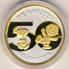 1992 - Enviromint  - Peanuts - 50th Year Anniversary - Silver/Gold Coin