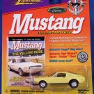 1999 - Johnny Lightning - Mustang Illustrated - 1967 Yellow Ford Mustang GTA - Die-cast Metal Cars