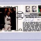Cal Ripken Jr - Autographed - 2131 - September 6, 1995 - Gateway - Cachet