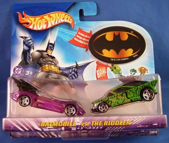 2003 - Mattel - Hot Wheels - DC Comics - Batman vs. The Riddler - Diecast 2 Car Set