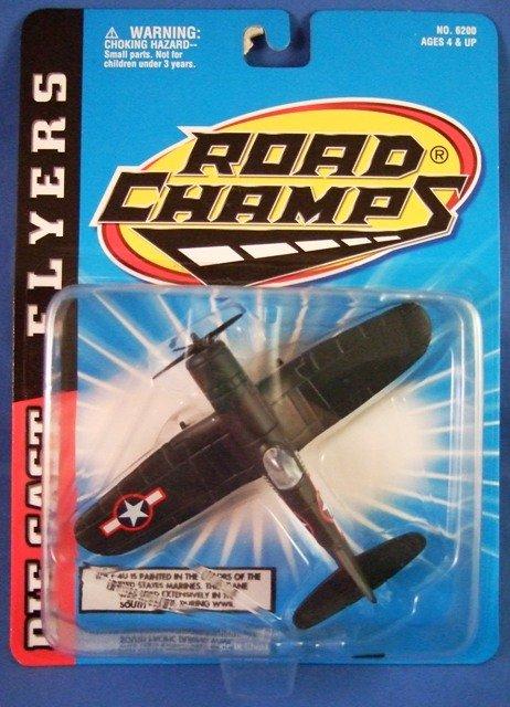 1997 - Jakks Pacific - Road Champs - Die Cast Flyers - F-4U - Toy Air Plane