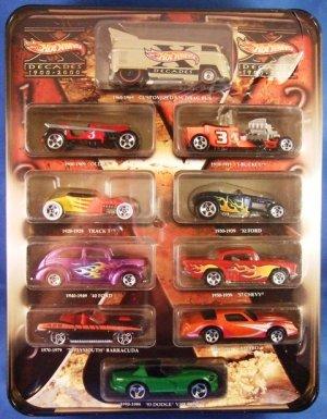 1900 - 2000  - Hot Wheels - X Decades - Collector's Edition - Tin Set