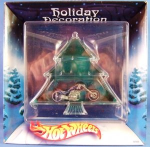 2002 - Hot Wheels - Holiday Decoration - Collector's Edition - Christmas Tree Motorcycle  Ornament