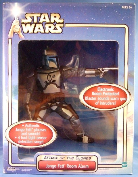 2002 - Hasbro - Star Wars - Attack Of The Clones - Jango Fett Room Alarm - Action Figure