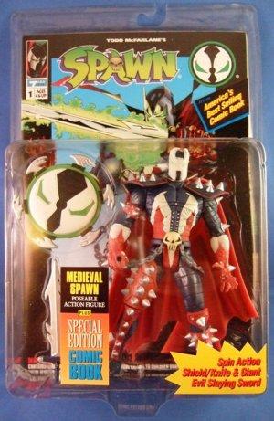 1995 - McFarlane Toys - Spawn - Series 1 - Medieval Spawn - Action Figure