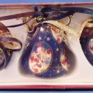 Giftco Decoupage  Set Of 3 Christmas Ornaments