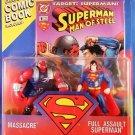 1995 Hasbro Kenner DC Comics  Superman Man of Steel Massacre vs Full Assault Superman
