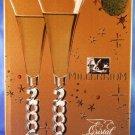 2000 - Cristal D'Arques - Millennium - Champagne Goblet - Set Of 2