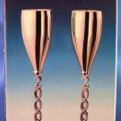 2000 - Godinger - Silver Plated - Millennium Champagne Goblet - Set Of 2