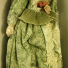 """22"""" Victorian Green Dress Doll With Stand Included"""