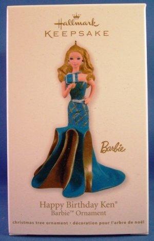 2011 - Hallmark - Keepsake Ornament - Barbie - Happy Birthday Ken - Christmas Ornament
