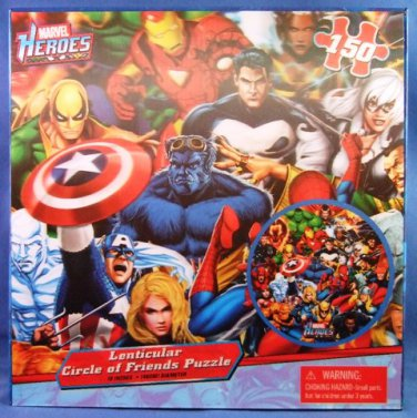 2011  - Cardinal - Marvel Heroes - Circle Of Friends - 150 Piece - Jigzaw Puzzle
