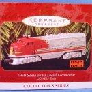 1997 - Hallmark - Keepsake Ornament - Lionel Electric Trains - 1950 Santa Fe F3 Diesel Locomotive