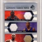 2004-05 SP Authentic Fabrics Triple Jordan/Bryant/James #10/25 BGS 9