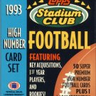 1993 Stadium Club Football Complete High Series Factory Set (50 Card Set)