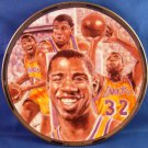 1991 - Sports Impressions - Magic Johnson - L.A. Lakers - NBA Basketball Superstar - Collector Plate