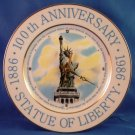 1886 -1986 Statue Of Liberty -100th Anniversary - Clock - Collector Plate