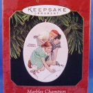 1997 - Hallmark - Keepsake - Norman Rockwell Art - Marbles Champion