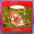 2001 - Hallmark - Keepsake Ornament - Snoozing Santa - Christmas Ornament