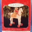 1998 - Hallmark - Keepsake - A Pony For Christmas - 1st in Series - Christmas Ornament