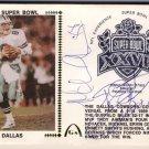1993 - Super Bowl Troy Aikman, Emmitt Smith, Michael Irvin - Autographed FDC - Gateway Envelope