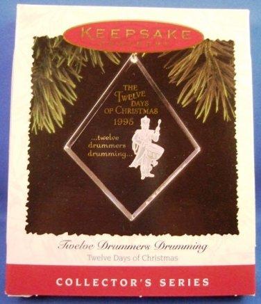 1995 - Hallmark - Keepsake -Twelve Drummers Drumming - 12th in Series - Christmas Ornament