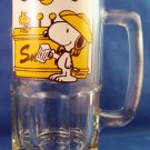 "1971 - Snoopy - Vintage - 8"" Glass Mug"