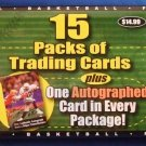 15 Factory Sealed Packs of Trading Cards plus One Autographed Card In Every Package