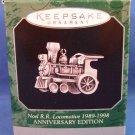 1998 - Hallmark - Keepsake - Noel R.R. Locomotive 1989 -1998 Miniature - Christmas Ornament