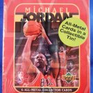 1996 - Upper Deck - Basketball - Michael Jordan - 6 All-Metal Collector Card Set & Tin