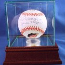 "Joe DiMaggio "" Yankee Clipper "" Signed Portrait Baseball"