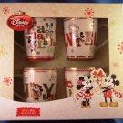 Disney Store - Mickey & Minney Mouse - Christmas Mugs - Set of 4 Mugs