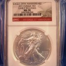 2011 - Silver Eagle - NGC 70 - Early Releases - 25th Red Label