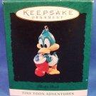 1994 - Hallmark - Keepsake Ornament -Tiny Toon Adventures - Plucky Duck -  Miniature Ornament
