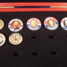 Willabee & Ward - Presidential Pins Collection - 7 Pins & Certificates