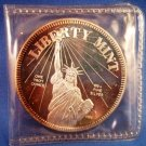 1986 - USA - CONSTITUTION ROUND - .999 FINE SILVER - 1 OZ TROY - STATUE OF LIBERTY MINT