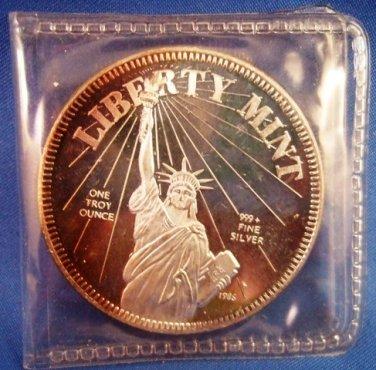1986 Usa Constitution Round 999 Fine Silver 1 Oz