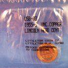 1955-S - Lincoln Head Cent - Cppoer - Unc.