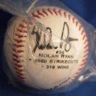 NOLAN RYAN souvenir Baseball w/facsimile autograph - 5k, Ks 300 Ws - Commemorative Baseball