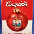 2001 - Campbell Soup Company - Merry Christmas To All And To All A Good Night - Collectible Ornament