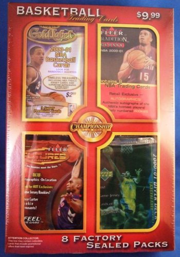 2000- 2001 - 8 NBA Premium Factory Sealed Packs - Championship Collection (1)