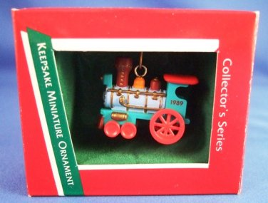 1989 - Hallmark - Keepsake Ornament - Noel R. R. - 1st In Series - Miniature Train Ornament