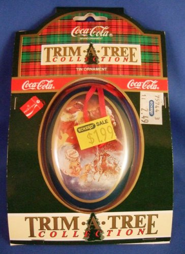 1991 - Coca-Cola - 1936 Tree Trim Collection - Travel Refreshed - Tin Christmas Ornament