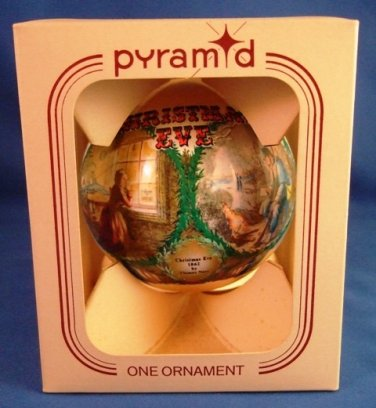 1985 - Pyramid - Christmas Eve 1862 - By Thomas Nast Silk - Christmas Ornament