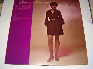 "Dionne Warwick 12"" LP I'll Never Fall In Love Again"