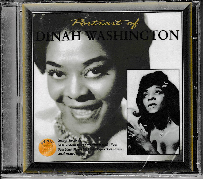 Portrait Of Dinah Washington Blues Jazz CD 5028376101782 10-6-96