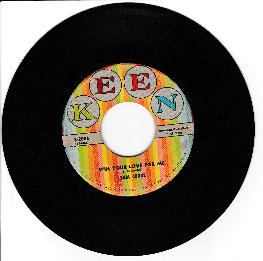 """Sam Cooke Win Your Love For Me 7"""" 45 Keen 32006 58403 Pop R&B Soul"""