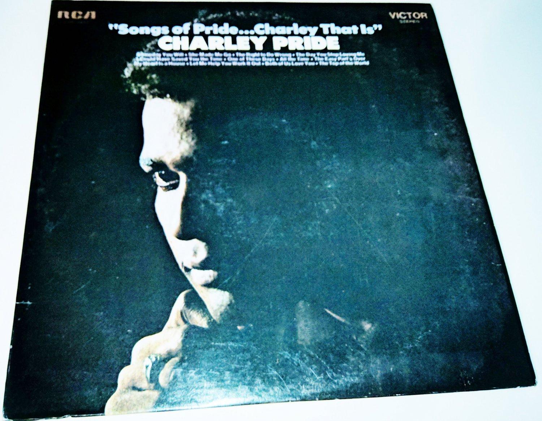 Charlie Pride Songs Of Pride Charley Pride That Is LP RCA Victor LSP4041 Country